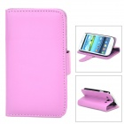 Protective Flip-open PU Leather Holder Case w/ Card Slot for Samsung Galaxy S3 i9300 - Purple
