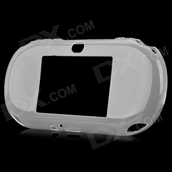 Protective TPU Cover Case for PS Vita 2000 - Translucent White protective silicone case for nds lite translucent white
