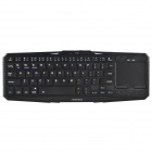 IBK-02 Ultradünne Bluetooth V3.0 64-Key Keyboard w / Touchpad für Handy, Tablet, PC - Schwarz
