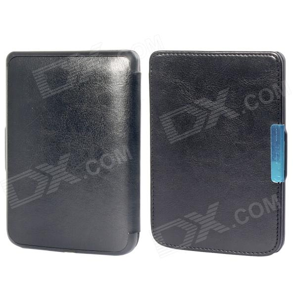 Protective PU Leather Flip Case Cover for POCKETBOOK 515 - Black обложка goodegg lira для электронной книги pocketbook 515 белая