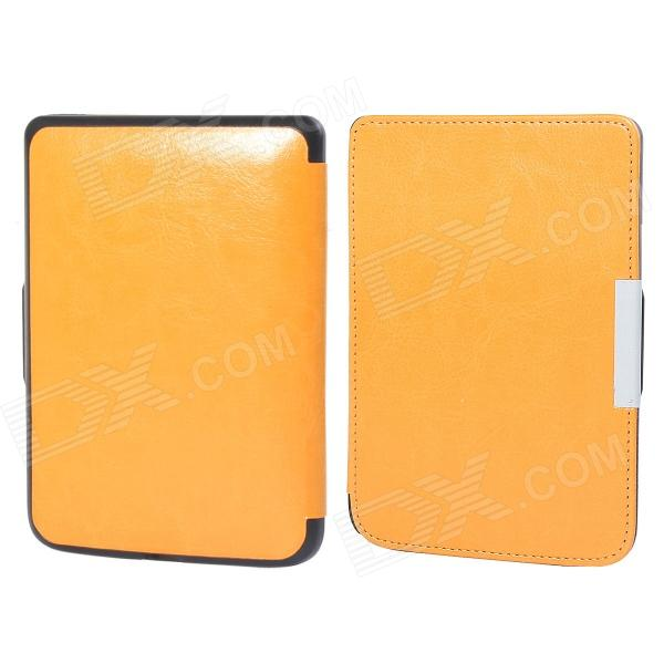 Protective PU Leather Flip Case Cover for POCKETBOOK 515 - Orange обложка goodegg lira для электронной книги pocketbook 515 белая
