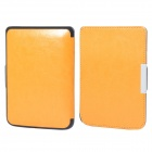 Protective PU Leather Flip Case Cover for POCKETBOOK 515 - Orange