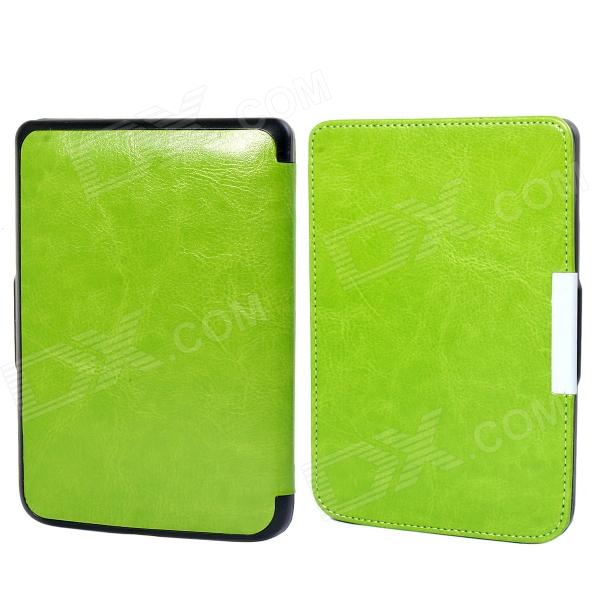 Protective PU Leather Flip Case Cover for POCKETBOOK 515 - Green обложка goodegg lira для электронной книги pocketbook 515 белая