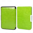 Protective PU Leather Flip Case Cover for POCKETBOOK 515 - Green