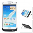 "External ""4200mAh"" Battery ABS Back Case w/ Stand for Samsung Galaxy Note 2 - Black"