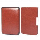 Protective PU Leather Flip Case Cover for POCKETBOOK 515 - Brown