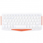 IBK-01 Ultrathin Wireless Bluetooth V3.0 64-Key Keyboard for Cellphone, Tablet, Desktop PC - White