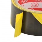 Mixed Interval PVC Zebra Crossed Warning Tape - Black + Yellow
