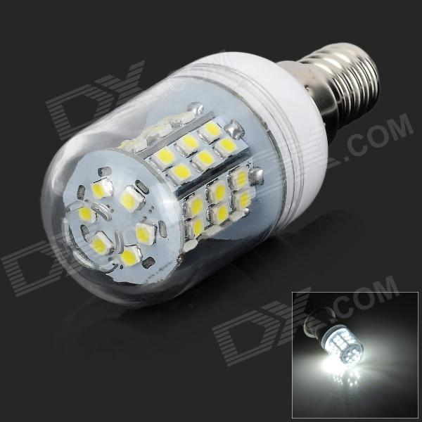 LY E14 3W 80lm 48-SMD 3528 LED Cold White Light lampe (AC 220V)