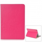 Protective PU Leather Case w/ Stand for Retina Ipad MINI - Deep Pink + Beige