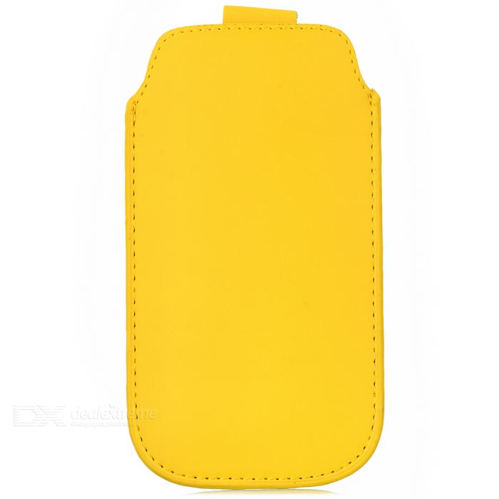 ipS-5 Protective PU Leather Pouch Bag for Iphone 5 / 5s - Yellow + Black