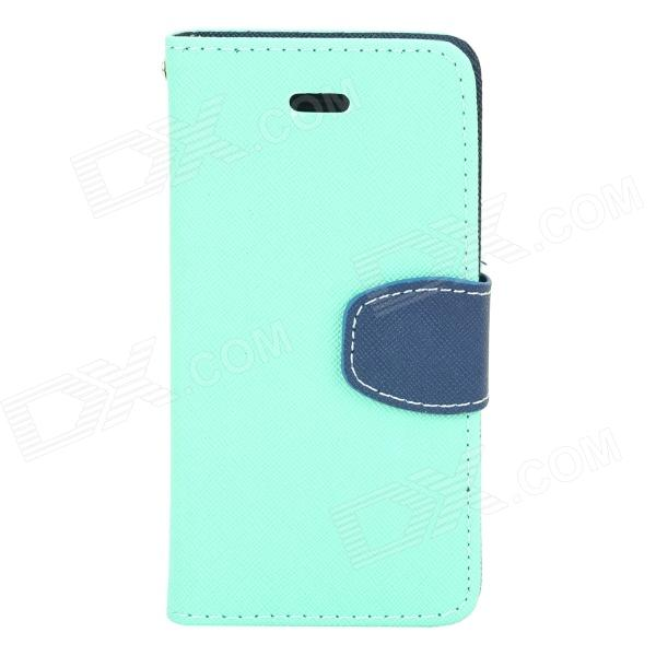 a-338 Protective Flip Open PU Leather Case w/ Stand / Card Slots for Iphone 5S / Iphone 5 protective pu leather flip open case w stand card slots for iphone 5 5s blue