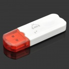 Bluetooth V3.0 Music Receiver Audio System Music Adapter - White + Red