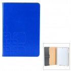 Stylish Protective PU Leather + PC Case for Retina Ipad MINI - Blue + Grey