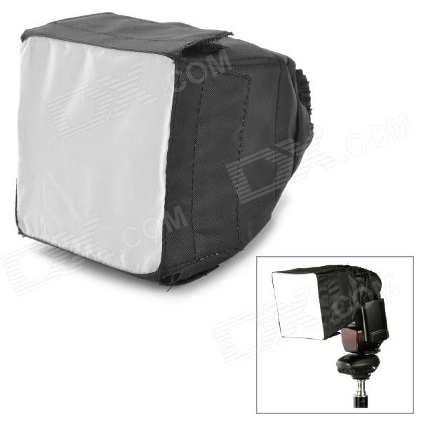 Universal Nylon Flashlight Softbox for DSLR - Black + White + Silver (9 x 9cm)