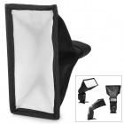 Universal Flashlight Nylon Softbox for Camera - White + Black + Silver + Red (8 x 15cm)