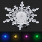 Snowflake Style LED RGB Auto Changing Decoration Light - Transparent (2 x CR2032)