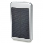 S-What DS-6000T Solar Energy Powered 5000mAh Charger Power Bank for Iphone / Ipod / Samsung - Silver