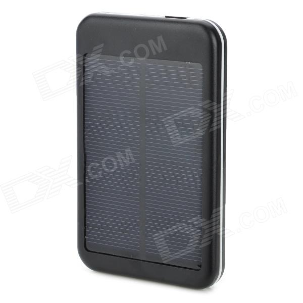 S-What DS-6000T Solar Energy Powered 5000mAh Charger Power Bank for Iphone / Ipod / Samsung - Black