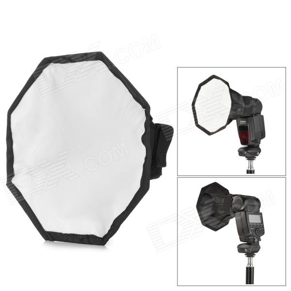 Universal Flashlight Octagonal Nylon Softbox for Camera - White + Black + Silver + Pink (20cm)