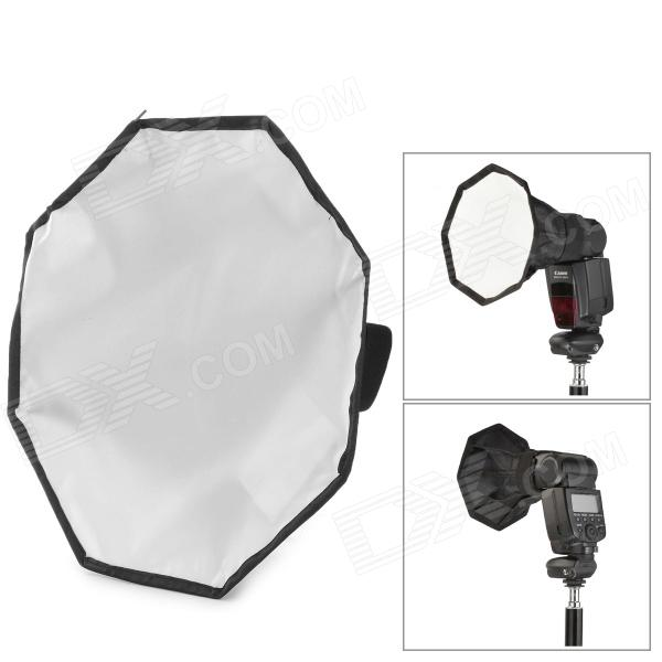 30mm Photo Octagon Nylon Softbox for Speedlight Flash - Black + White + Pink + Silver