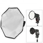 30 mm Photo Octagon Nylon Softbox pour flash flash - Noir + Blanc + Rose + Argent