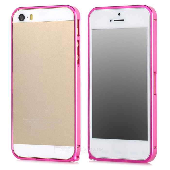 S-What Ultra-thin 0.68mm Aluminum Alloy Protective Bumper Frame for Iphone 5 / Iphone 5S - Deep Pink durable super thin aluminum alloy bumper frame case for iphone 5 5s black