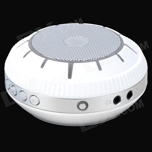 EWA E305 Portable 5W Wireless Bluetooth V2.0 Stereo Speaker w/ Mic / TF - White + Light Grey original xiaomi mi bluetooth speaker wireless stereo mini portable mp3 player pocket audio support handsfree tf card
