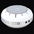 EWA E305 Portable 5W Wireless Bluetooth V2.0 Stereo Speaker w/ Mic / TF - White + Light Grey