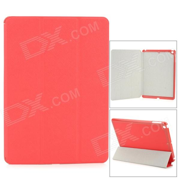 Protective PU Leather + PC Case for Ipad AIR - Red protective pu pc flip open case cover for ipad mini red
