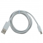 USB to Micro USB Data/Charging Cable for Samsung / HTC + More - White + Grey
