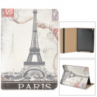 Eiffel Tower Style Protective PU Leather + Plastic Case for Ipad AIR - Black + Grey