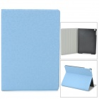 Diamond Pattern Protective PU Leather + Plastic Case for Ipad AIR - Blue