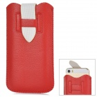 ipS-5 Universal Protective PU Leather Pouch Bag for Iphone 5 / 5c / 5s - Red + White