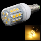 LY E14 5W 180lm 3000K 27-5050 SMD LED Warm White Lamp - White + Yellow + Multicolored (AC 220V)