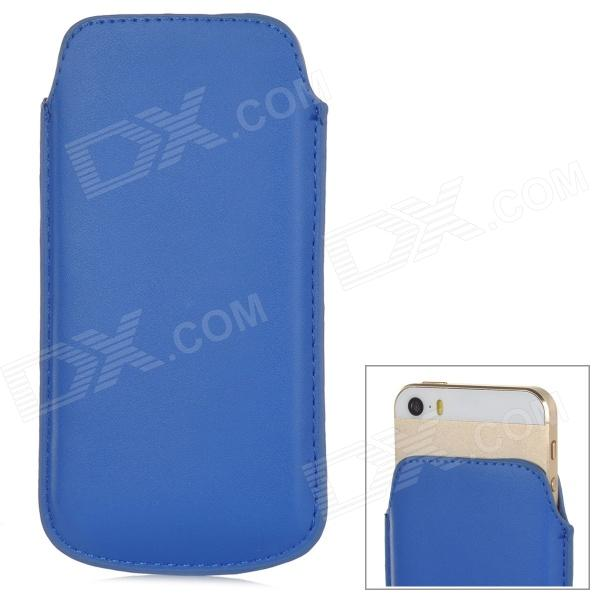 ipS-5 Protective PU Leather Pouch Bag for Iphone 5 / 5s - Blue