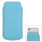 ipS-5 Protective PU Leather Pouch Bag for Iphone 5 / 5s - Light Blue