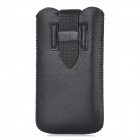 KK-5 Protective PU Leather Pouch Bag Case for Iphone 5 / 5c / 5s - Black
