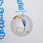 13-LED Flexible Neck White Light USB Touch Switch Reading Lamp - Blue + Silver