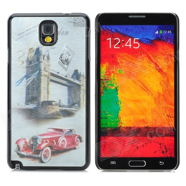 3D Classic Car Style Protective Back Case for Samsung Galaxy Note 3 - Red + Silver Grey cute 3d girl style protective silicone back case for samsung galaxy note 3 n9000 green