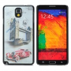3D Classic Car Style Protective Back Case for Samsung Galaxy Note 3 - Red + Silver Grey