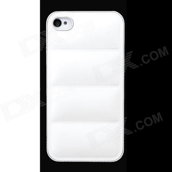 все цены на Protective PU Leather + PC Back Case for Iphone 4 / 4s - White