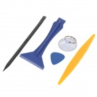 BEST BST-605 Repair Maintenance Disassemble Tools for Iphone - Black + Yellow + Blue (12PCS)
