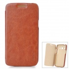 PUDINI LX-G3502U Protective PU Leather + PC Case for Samsung Galaxy Trend 3 G3502U - Brown