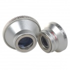 0.67X Wide Angle + Macro + Fish Eye Lens for IPHONE + More - Silver