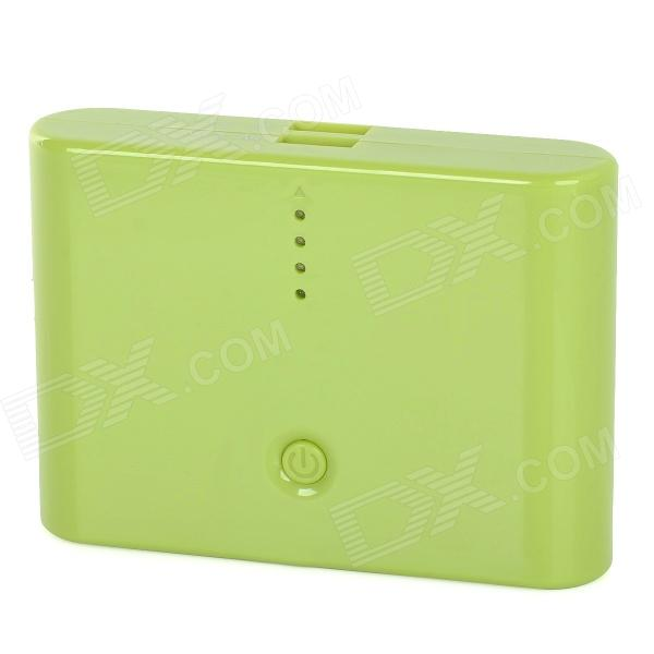 "Universal Dual-USB External ""12000mA"" Power Bank for Iphone / Samsung - Green"