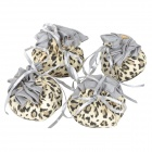 Leopard Print Pattern Chair Table Leg Floor Protector Anti-slip / Anti-noise Foot Cover (4PCS)
