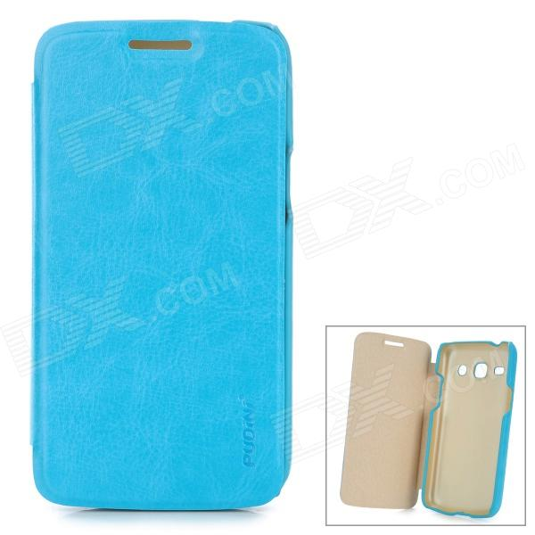 PUDINI LX-G3502U Protective PU Leather + PC Case for Samsung Galaxy Trend 3 G3502U - Blue pudini lx g730 protective pc back case for huawei g730 u00 dark blue