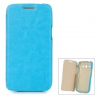 PUDINI LX-G3502U Protective PU Leather + PC Case for Samsung Galaxy Trend 3 G3502U - Blue