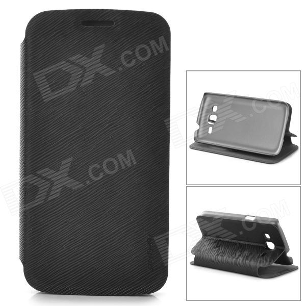 PUDINI LX-G3812 Protective PU Leather Case for Samsung G3812 - Black pudini lx g3812 protective plastic back case for samsung g3812 black